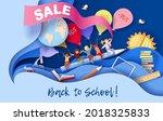 back to school sale background .... | Shutterstock .eps vector #2018325833