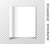 open blank magazine or book...   Shutterstock .eps vector #2018334116