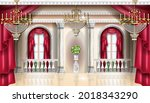 classic palace interior vector... | Shutterstock .eps vector #2018343290