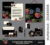 vector corporate identity.... | Shutterstock .eps vector #201836008