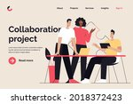 business concept flat style... | Shutterstock .eps vector #2018372423