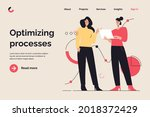 business concept flat style... | Shutterstock .eps vector #2018372429