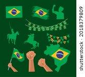 brazil independence day set... | Shutterstock .eps vector #2018379809