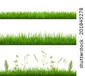 grass borders  with gradient... | Shutterstock .eps vector #201845278