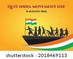 quit india movement day poster... | Shutterstock .eps vector #2018469113