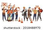 group of dissatisfied people... | Shutterstock .eps vector #2018488970