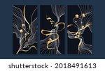 luxury gold wallpaper.  black... | Shutterstock .eps vector #2018491613