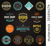 Set Of Bicycle Graphics And...