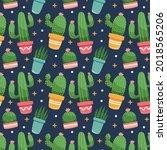 actus pattern. summer... | Shutterstock .eps vector #2018565206