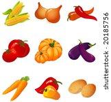 set of vegetables | Shutterstock . vector #20185756