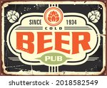 old pub sign retro poster wall... | Shutterstock .eps vector #2018582549