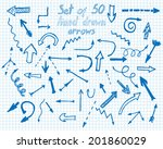 hand drawn arrows set. vector... | Shutterstock .eps vector #201860029