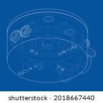 abstract industry object...   Shutterstock .eps vector #2018667440
