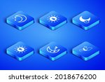 set cloud with moon and stars ... | Shutterstock .eps vector #2018676200