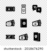 set train ticket  bus ...   Shutterstock .eps vector #2018676290