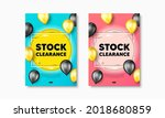 stock clearance sale text.... | Shutterstock .eps vector #2018680859