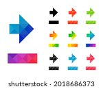 set of colorful right arrow... | Shutterstock .eps vector #2018686373