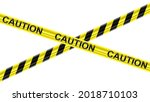 black and yellow stripes... | Shutterstock .eps vector #2018710103