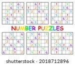 sudoku set for kids with... | Shutterstock .eps vector #2018712896