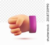 3d hands clenched. rock pose.... | Shutterstock .eps vector #2018720990