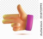 3d thumb up shooting hand... | Shutterstock .eps vector #2018720993