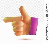 3d thumb up shooting hand... | Shutterstock .eps vector #2018720996