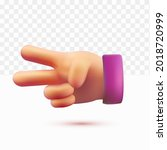 3d hands  peace. scissors pose. ... | Shutterstock .eps vector #2018720999
