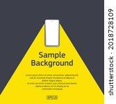 dark background with sample... | Shutterstock .eps vector #2018728109