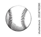 a baseball ball. vintage style | Shutterstock .eps vector #2018740280