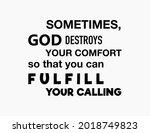 vector quote  sometimes god... | Shutterstock .eps vector #2018749823
