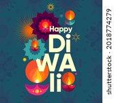happy diwali. deepavali or... | Shutterstock .eps vector #2018774279