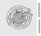 authentic attitude vintage...   Shutterstock .eps vector #2018784599