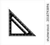 triangular ruler icon ... | Shutterstock .eps vector #2018793896
