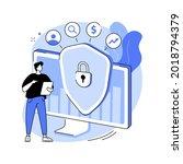 cyber security risk management... | Shutterstock .eps vector #2018794379