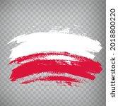 flag of poland  brush stroke...