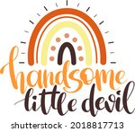 handsome little devil  ...   Shutterstock .eps vector #2018817713