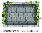 gray stone wall  vector rock...