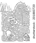 underground maze for kids  ... | Shutterstock .eps vector #201883720