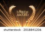 abstract golden award...   Shutterstock .eps vector #2018841206