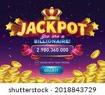 Jackpot. Gambling Game Bright...