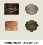 set of vintage labels  vector... | Shutterstock .eps vector #201884854