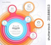colorful circle web template.
