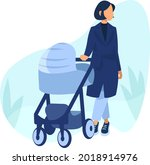 parent and child  girl with a... | Shutterstock .eps vector #2018914976