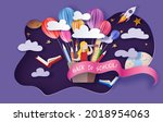 back to school background ....   Shutterstock .eps vector #2018954063