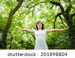 enjoying the nature. young... | Shutterstock . vector #201898804