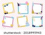 birthday collage frame design.... | Shutterstock .eps vector #2018995943