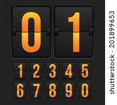countdown timer  white color... | Shutterstock .eps vector #201899653