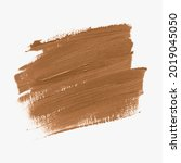 grunge brown oil paint brush... | Shutterstock .eps vector #2019045050