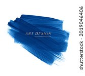 blue acrylic paint abstract...   Shutterstock .eps vector #2019046406