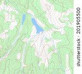 color topographic contour map... | Shutterstock .eps vector #201905500